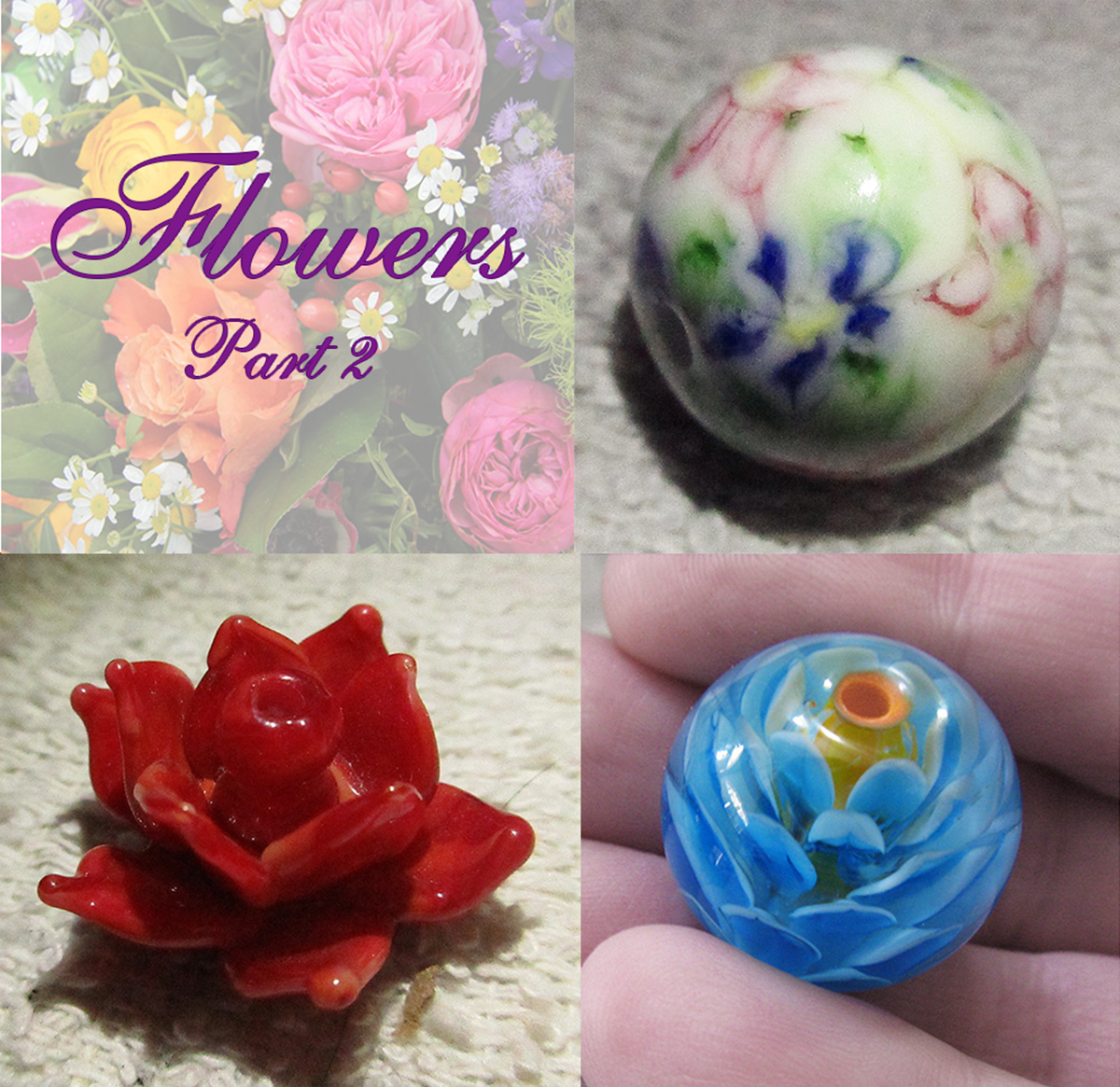 Flower Beads - 2 Day Workshop<br>Intermediate