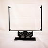 Square Display Stand<br> Decorative Rings Black<br> 12 in. wide