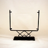 Square Display Stand<br> Decorative Open Angles Black<br> 12 in. wide
