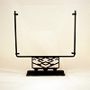 Square Display Stand<br> Decorative Closed Angles Black<br> 12 in. wide