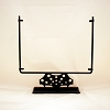 Square Display Stand<br> Decorative Circles Black<br> 12 in. wide