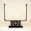 Square Display Stand<br> Geometric Black<br> 12 in. wide