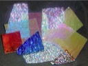 90 COE - Assorted Random Pieces, Crinklized On Black 90 COE