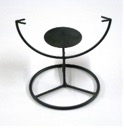 5.25 In. Round Table Stand W\Candle Holder