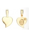 Gold-plated heart bails, large