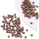 25 Ea.- Oval Faceted 4Mm Spacer Beads - Red Copper