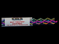 90 COE - Fs Wavy Firestrips Assortment On Black