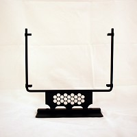 Square Display Stand, Honeycomb, Black, 10 in. wide