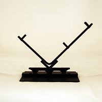 "12 In. Checkmark ""V"" Display Stand, Black, 12 in. wide glass"
