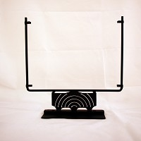 Square Display Stand, Rings Black, 8 in. wide