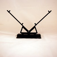 """V"" Display Stand, Black, 6 in. wide glass"